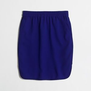 J. Crew Crepe pencil skirt with curved hem NEW 0